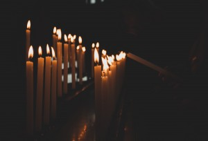 Candles in the church.