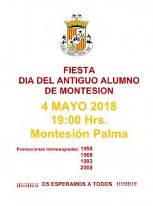cartel Fiesta Antiguo Alumno